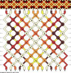 Muster # 42256, Streicher: 14 Zeilen: 12 Farben: 6