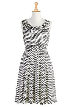 Black & White Dress | eShakti | Size 0-26W & Custom clothes | $64.95 -- would be SO cute with a bright belt!