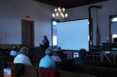 "Dr. Kelly Houston Jones presenting, ""African American Life the Arkansas Territory"" at the Jan. 15, 2015 NEARA symposium, ""Erasing Boundaries: Lawrence County at 200"" in Powhatan."