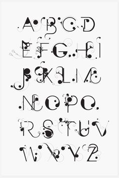 Bloob / art nouveau text / designspiration