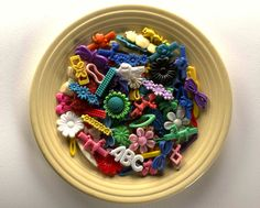 One of the Lang's art pieces made from plastic items collected from Kehoe Beach. Photo: Judith Selby /Plastic Forever.