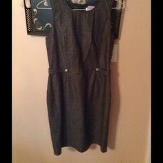 Dress Gray/ black cotton dress.  Really cute on Calvin klien Dresses Midi