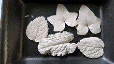Listy - sádrový odlitek