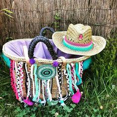 Sombrero flecos azul annacivis@hotmail.com
