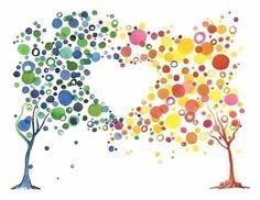 Watercolor Tree Love Art Print Romantic Home Wall par jellybeans, $15.50
