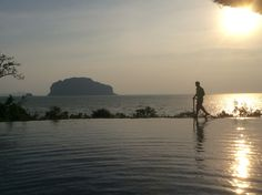 Sunset at the pool Koh Yai Yao village
