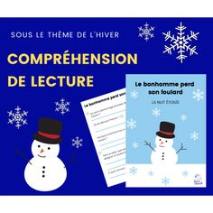Compréhension de lecture - 2e cycle HIVER Cycle, Map, Movie Posters, Reading Comprehension, Starry Nights, Learn French, Purpose, Snow
