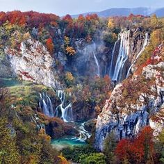 Pic via @NakedPlanet Check them out for amazing nature  Plitvice National Park in the fall, Croatia Photo by ©Vedrana Tafra (Credit goes to photographer) •