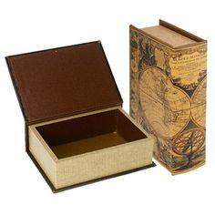 מתנות למשרד | קופסת איחסון בצורת ספר עתיק .