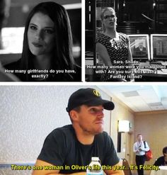 I AM LAUGHING SO HARD. OH FELICITY.