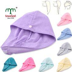2 Pack Microfiber Wrap Hair Towels High Quality Absorbent Turbie Twist Towel New #MMY