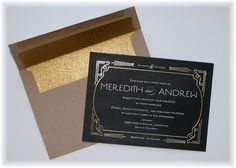 Question: What happens when you apply gold foil onto a wedding invitation? Answer: You get optimum lux that takes a ho-hum invite from everyday mail to something that makes one think of gold, wealth, and royalty! Combine gold leaf with a beautiful personalized design to create a wedding invitation that each guest will distinctly remember. …