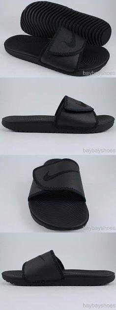 ad8738f3807f0 Sandals and Flip Flops 11504  Nike Kawa Adjust Triple Black Adjustable  Strap Sport Sandals Slides Us Men Sizes -  BUY IT NOW ONLY   42.99 on eBay!
