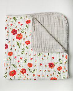 Little Unicorn-Summer Poppy Blanket