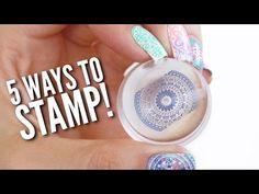 Nail Stamping yours nail stamping plates French Nails, Nagel Stamping, Nail Stamper, Nail Art Stamping Plates, Nail Stamping Designs, Nail Art Designs Videos, Nail Designs, Nail Polish Art, Pretty Nail Art