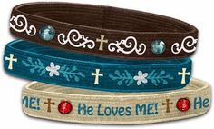 Christian Stretch Bangle 3pk-He Loves Me.. yes HE does!