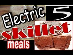 5 Easy Meals to Make in the Electric Skillet Easy Skillet Meals, Skillet Cooking, Easy Meals, Best Electric Skillet, Electric Skillet Recipes, Cheesy Potato Bake, Cheesy Potatoes, Baked Potatoes, Electric Frying Pan