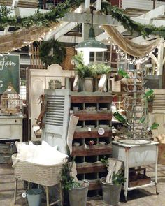 We'll be set up at Canton Trade Days beginning this January show! The dates are December see us at The Arbors Boardwalk III. We'll have lots of vintage farmhouse items and after Christmas deals! Can't wait to see you there! Vintage Display, Antique Store Displays, Flea Market Displays, Flea Market Booth, Shop Displays, Flea Markets, Antique Booth Ideas, Antique Mall Booth, Antique Shops