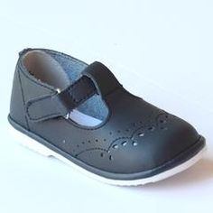 Angel Infant Girls 2945 Navy Leather T-Strap Mary Janes