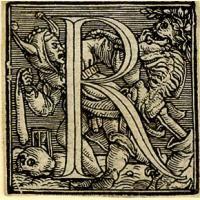 Holbein Alphabet 1526: Initial R