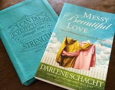 """Enter to win a copy of the NEW 5-Star book - Messy, Beautiful Love by Darlene Schacht, and this lovely journal too! """"I love Darlene's writing! This book both challenges and motivates me to exchange God's ideas and ideals for my own. Her hope-filled story of a marriage changed by the grace of God reminds us that no marriage is ever beyond God's redeeming grace."""" ~ Courtney Joseph of @womenlivingwell"""