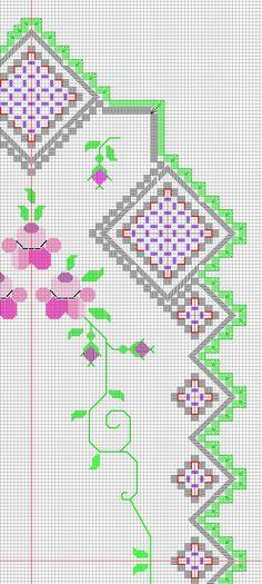 > фрагмент дорожки с 7-ю углами Hardanger Embroidery, Bargello, Cross Stitch, Map, Rugs, Straight Stitch, Crossstitch, Log Projects, Norwegian Knitting