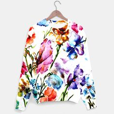 GARDEN OF BUTTERFLIES AND FLOWERS Sweater, Live Heroes