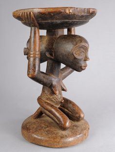EXQUISITE LUBA CARYATID STOOL TRIBAL ART AFRICAN CONGO DRC AFRICA ARTS PREMIERS | eBay