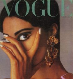 Donyale Luna - The first African American woman to grace Vogue's cover!