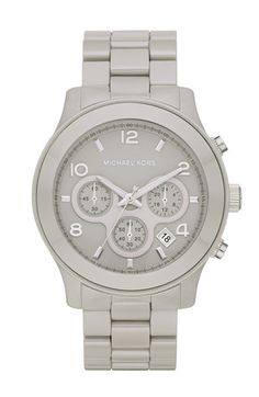 Grey Michael Kors watch, I need one for clinicals! I keep hinting to my new boy for Christmas hehe