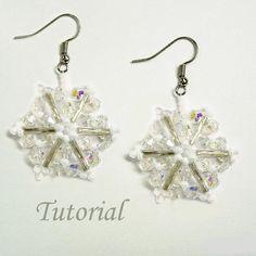 snowflake earrings tutorial