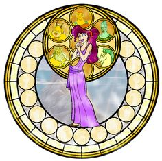 Megara Stained Glass - disney-princess Fan Art