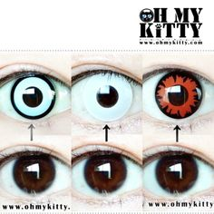 Pick one? Get them at www.ohmykitty.com #cosplayers #ohmykittydotcom #contacts #circlelenses #popular #cosplay #eyes #makeup #halloween #costumes Halloween Ideas, Halloween Costumes, Red Contacts, Circle Lenses, Pick One, Cosplay, Popular, Eyes, Makeup