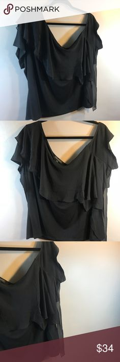 60f84fa384651 Lane Bryant Off the Shoulder Ruffled Blouse NWT! Super sexy black, off the  shoulder top with sheer ruffle by Lane Bryant. Short sleeves, size brand  new.