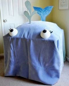 Family worship idea - drape a blanket over a table. Then read the story of Jonah from 'inside' of the big fish! http://ministryideaz.com/downloads