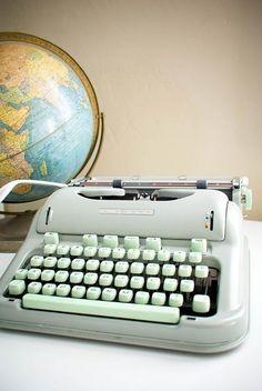 Cursive Hermes Typewriter-my grandmother had this. I loved it always.