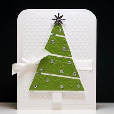 Sparkly Christmas Tree Card