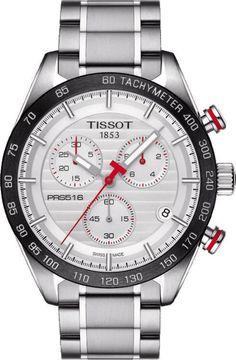 Tissot Watch PRS516 add-content basel 16 bezel-fixed bracelet-strap-steel brand-tissot case-depth-12-12mm case-material-steel case-width-42mm chronograph