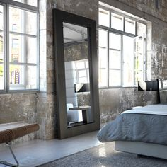 Modloft Norfolk Mirror - SP924-LAQ - Wenge contemporary-mirrors