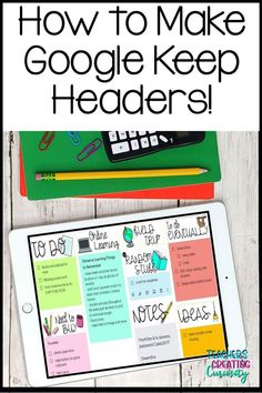 Google Keep, High School Classroom, Teaching Technology, Teaching Strategies, Teaching Ideas, Blended Learning, Teacher Tools, Google Classroom, Headers