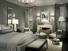 Nice Transitional Master Bedroom Best Transitional Bedroom Design Ideas Remodel Pictures Houzz in Home Interior Design Reference Master Bedroom Design, Dream Bedroom, Home Bedroom, Girls Bedroom, Bedroom Designs, Grey Bedrooms, Bedroom Furniture, Master Bedrooms, Bedroom Photos