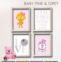 Baby Girl Star Wars Nursery Art C3-PO and R2-D2 Girl Room by StarWarsPrintShop, $32.00 Take a look at it here: https://www.etsy.com/listing/178526304