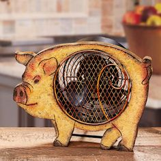 Handy Painted County Cow Shaped Fan. $75.00.