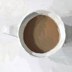 Elizabeth Mayville's coffee painting.
