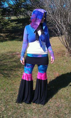 Hand dyed dance pants tie dye pants flow pants by PixieSewL, $98.00