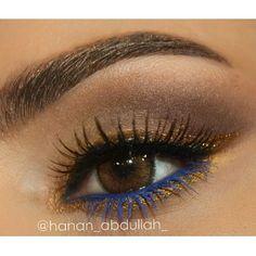 ♡ blue on bottom lashes...awesome idea!