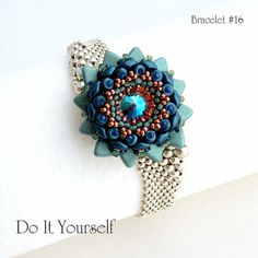 step by step INSTANT download Pdf beading PATTERN Bracelet #16
