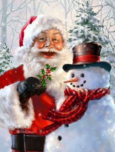 Santa Claus ❄️ Snowman ❄️ By: Dona Gelsinger ❄️ Artist