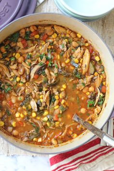 White Bean Chicken Chili #Soup recipe