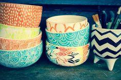 CUENCOS: MUNDO CACHARRO Porcelain Ceramics, Ceramic Bowls, China Porcelain, Ceramic Pottery, Pottery Painting, Ceramic Painting, Ceramic Art, Cerámica Ideas, Grit And Grace